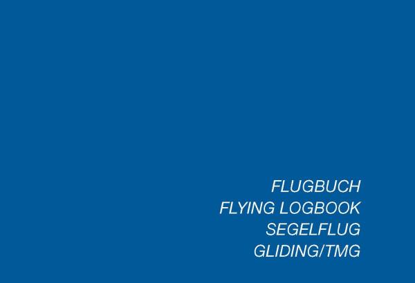 Flugbuch für Segelflieger EU-FCL
