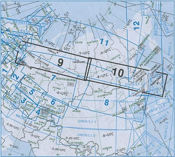 IFR-Streckenkarte Eurasia - Oberer/Unterer Luftraum - EA(H/L) 9/10