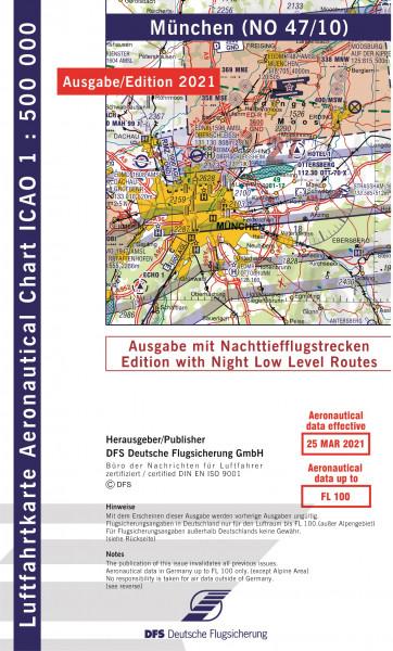 ICAO-Karte, Blatt München (Ausgabe 2021), Nachttiefflugstrecken 1:500.000
