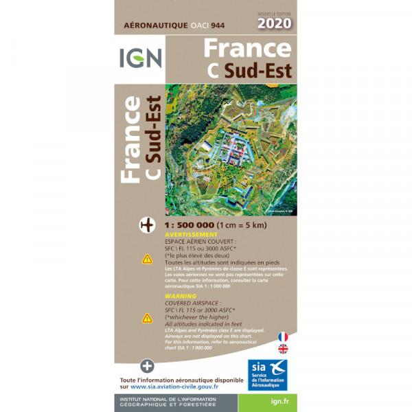 ICAO-Karte Frankreich: Südost (2020)