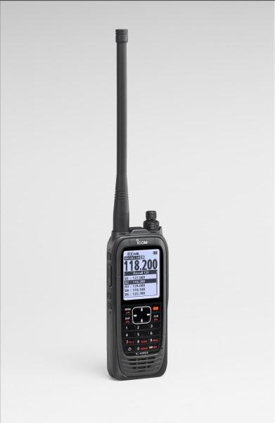 ICOM Flugfunkgerät IC-A25CE, seitlich