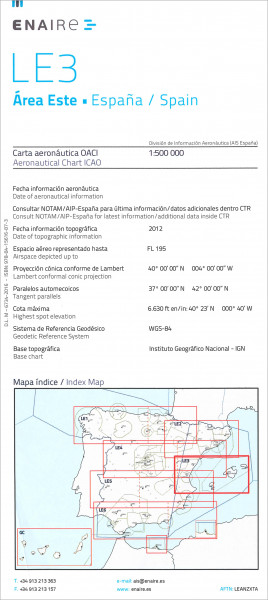 ICAO-Karte Spanien LE3 Area Este
