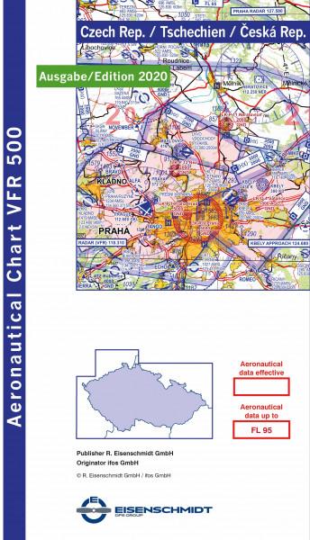 Luftfahrtkarte Czech Republic Tschechien 2020 1:500000
