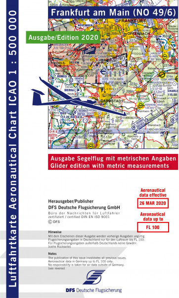 Icao Karte Blatt Frankfurt Ausgabe 2020 Segelflug 1 500 000