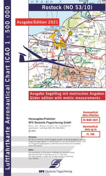 ICAO-Karte, Blatt Rostock (Ausgabe 2021), Segelflug 1:500.000