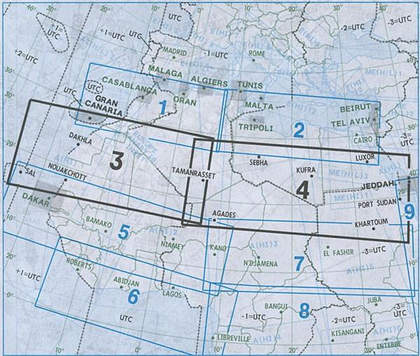 IFR-Streckenkarte Africa - Oberer/Unterer Luftraum - A(H/L) 3/4