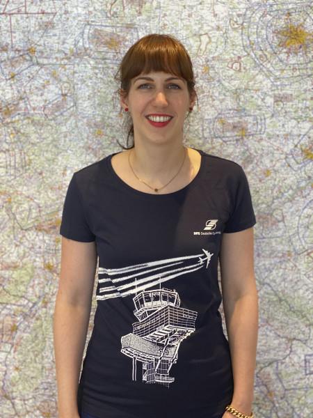 DFS Merch T-Shirt Damen mit Motiv Tower und Flugspuren