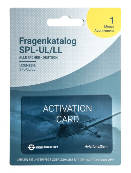 UL Fragenkatalog Produktkarte 1 Monat Abonnement