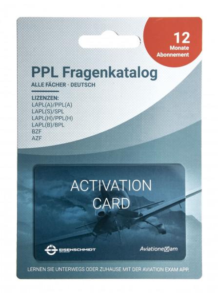 PPL Fragenkatalog Produktkarte 12 Monat Abonnement