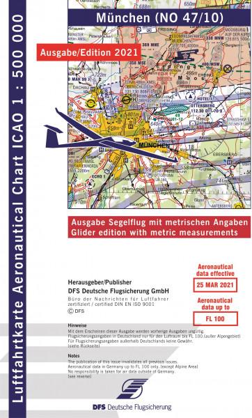 ICAO-Karte, Blatt München (Ausgabe 2021), Segelflug 1:500.000