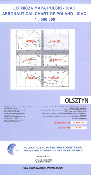 ICAO-Karte Polen Olsztyn