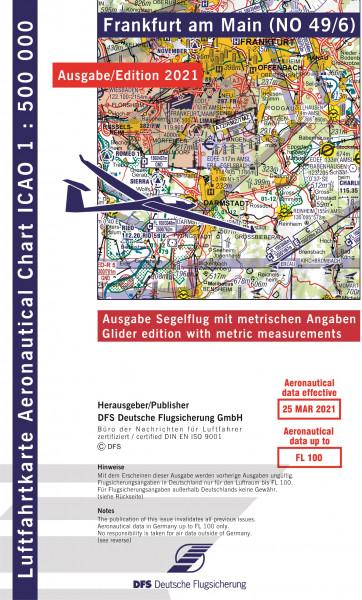 ICAO-Karte, Blatt Frankfurt (Ausgabe 2021), Segelflug 1:500.000