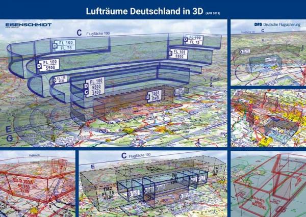 Poster Luftraumstruktur & Sichtflugregeln in Deutschland