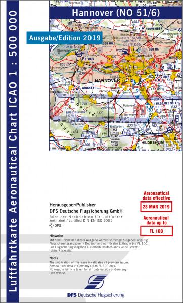 ICAO-Karte, Blatt Hannover (Ausgabe 2019), Motorflug 1:500.000