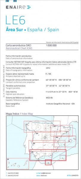 ICAO-Karte Spanien LE6 Area Sur