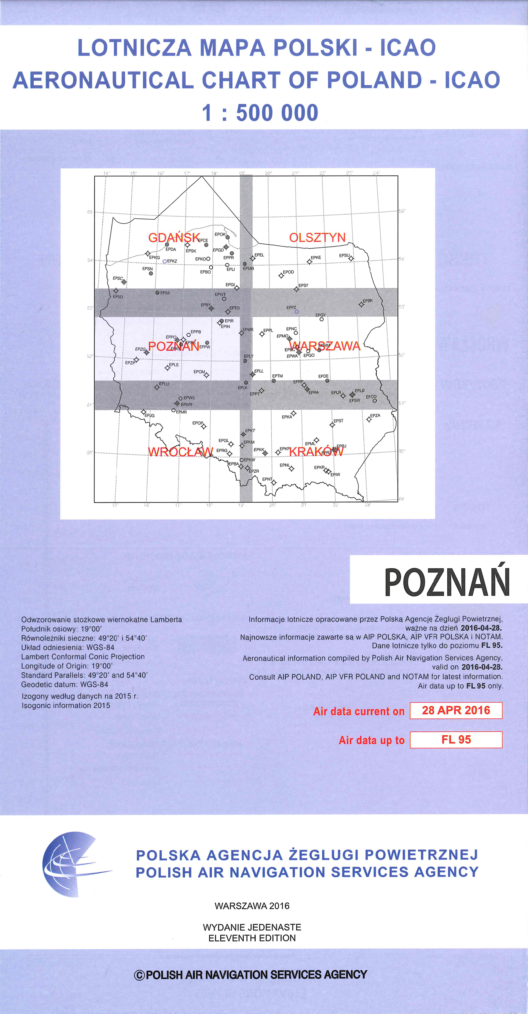 Polen Karte 2019.Icao Karte Polen Poznan Ausgabe 2019