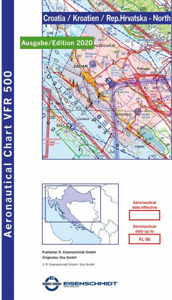 VFR 500 Croatia, Blatt North (Ausgabe 2020)
