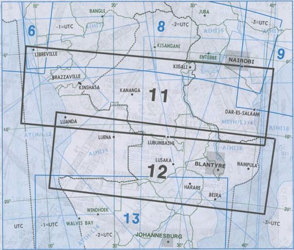 IFR-Streckenkarte Africa - Oberer/Unterer Luftraum - (A(H/L) 11/12