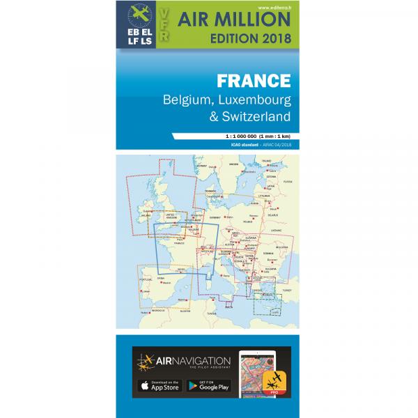 AIR MILLION France 1:1.000.000 2018