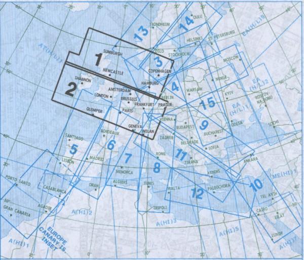 IFR-Streckenkarte - Oberer Luftraum E(HI) 1/2