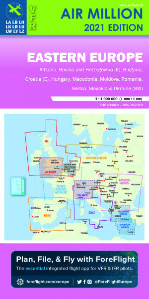 AIR MILLION: VFR-Karte Eastern Europe 1:1.000.000