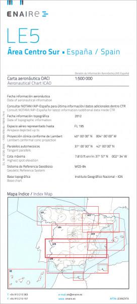ICAO-Karte Spanien LE5 Area Centro Sur