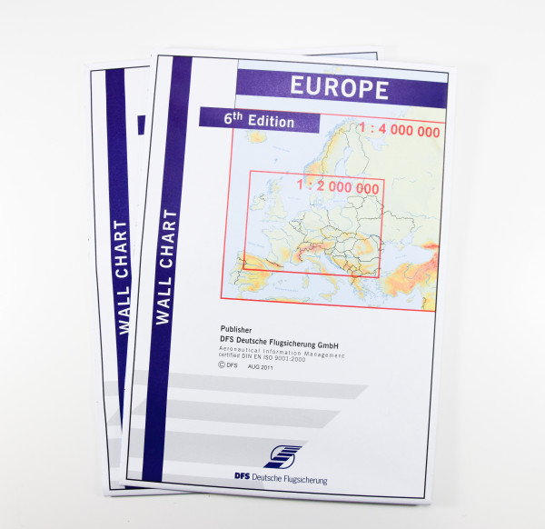 Europe Wall Chart, 6th Edition