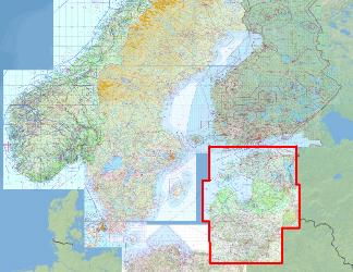 ICAO-Karte - Baltische Staaten für Flight Planner