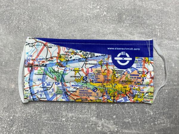 Alltagsmaske Gesichtsmaske Maske Mund-Nasen-Bedeckung ICAO-Karte Hamburg