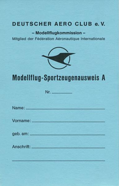 Sportzeugenausweis Modellflug A