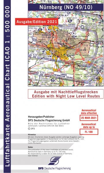 ICAO-Karte, Blatt Nürnberg (Ausgabe 2021), Nachttiefflugstrecken 1:500.000