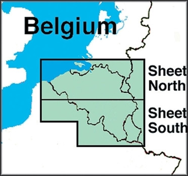ICAO-Karte Belgien (Ausgabe 2019)