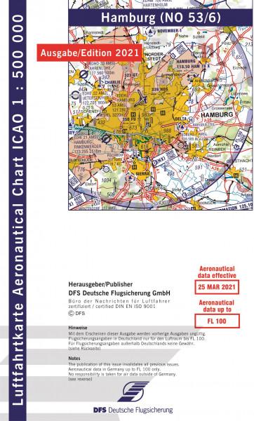 ICAO-Karte, Blatt Hamburg (Ausgabe 2021), Motorflug 1:500.000
