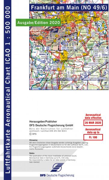 ICAO-Karte, Blatt Frankfurt (Ausgabe 2020), Motorflug 1:500.000