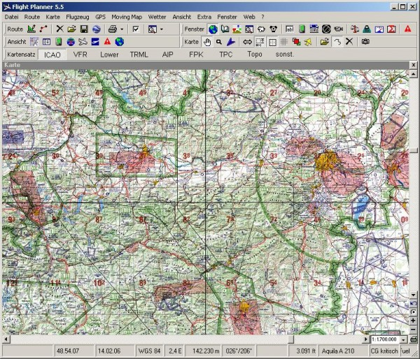 Flight Planner - Visual 500 - Netherlands inkl. VFR Anflugkarten
