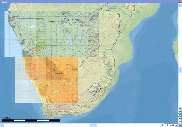 TPC-Karten - Süd Afrika für Flight Planner