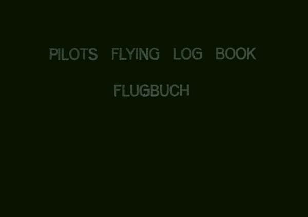 PILOTS FLYING LOG BOOK (schwarz)