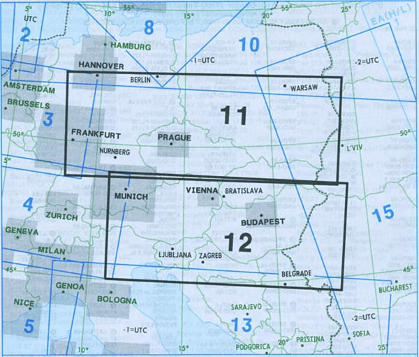 E(LO) 11/12 IFR-Streckenkarte Europe - Unterer Luftraum