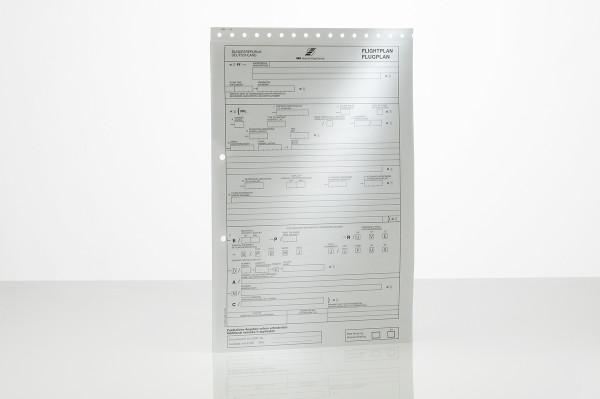 Flugplanvordruck, Durchschreibesatz (Einzelblatt)