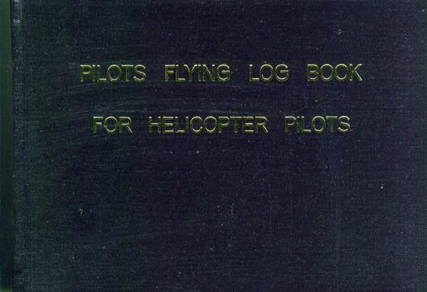 Flugbuch Helicopter - schwarz