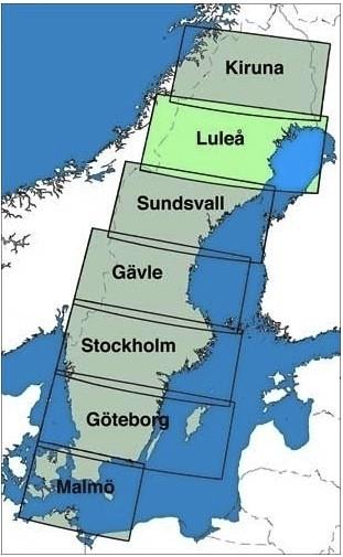 ICAO-Karte Schweden: Lulea (Ausgabe 2018)