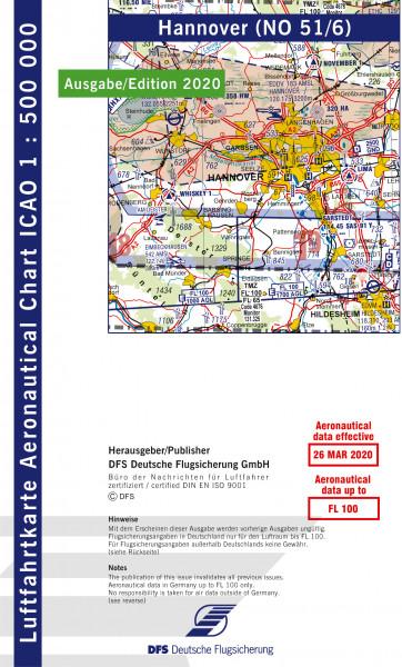 ICAO-Karte, Blatt Hannover (Ausgabe 2020), Motorflug 1:500.000