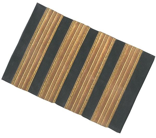 """Schulter-Rang-Streifen Pilot """"GOLD"""" - large"""