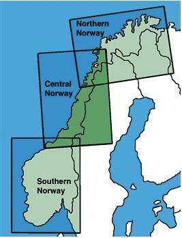 ICAO-Karte Norwegen 2021: Süden - Sheet 1