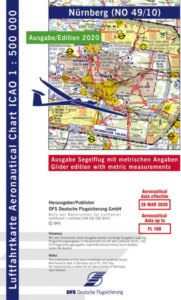 ICAO-Karte, Blatt Nürnberg (Ausgabe 2020), Segelflug 1:500.000