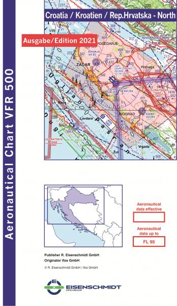 VFR 500 Croatia, Blatt North (Ausgabe 2021)
