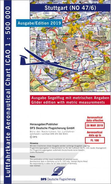 ICAO-Karte, Blatt Stuttgart (Ausgabe 2019), Segelflug 1:500.000