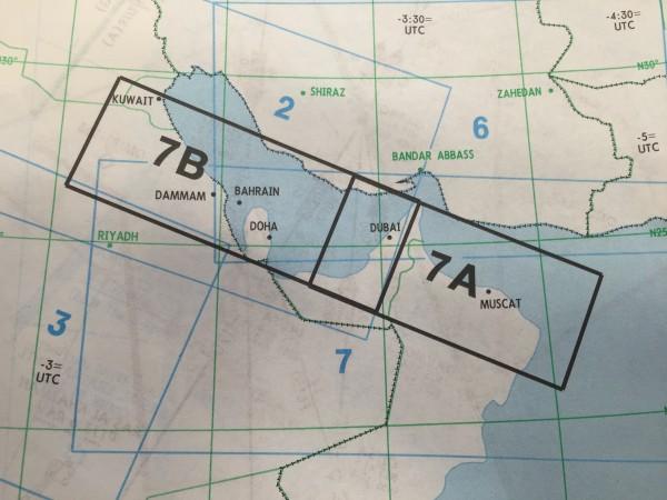 IFR-Streckenkarte Middle East - Oberer/Unterer Luftraum - ME(H/L) 7A/B