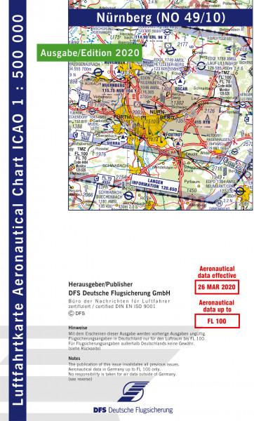 ICAO-Karte, Blatt Nürnberg (Ausgabe 2020), Motorflug 1:500.000