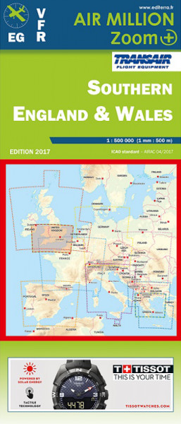 AIR MILLION: VFR-Zoom-Karte Southern England and Wales 1:500.000